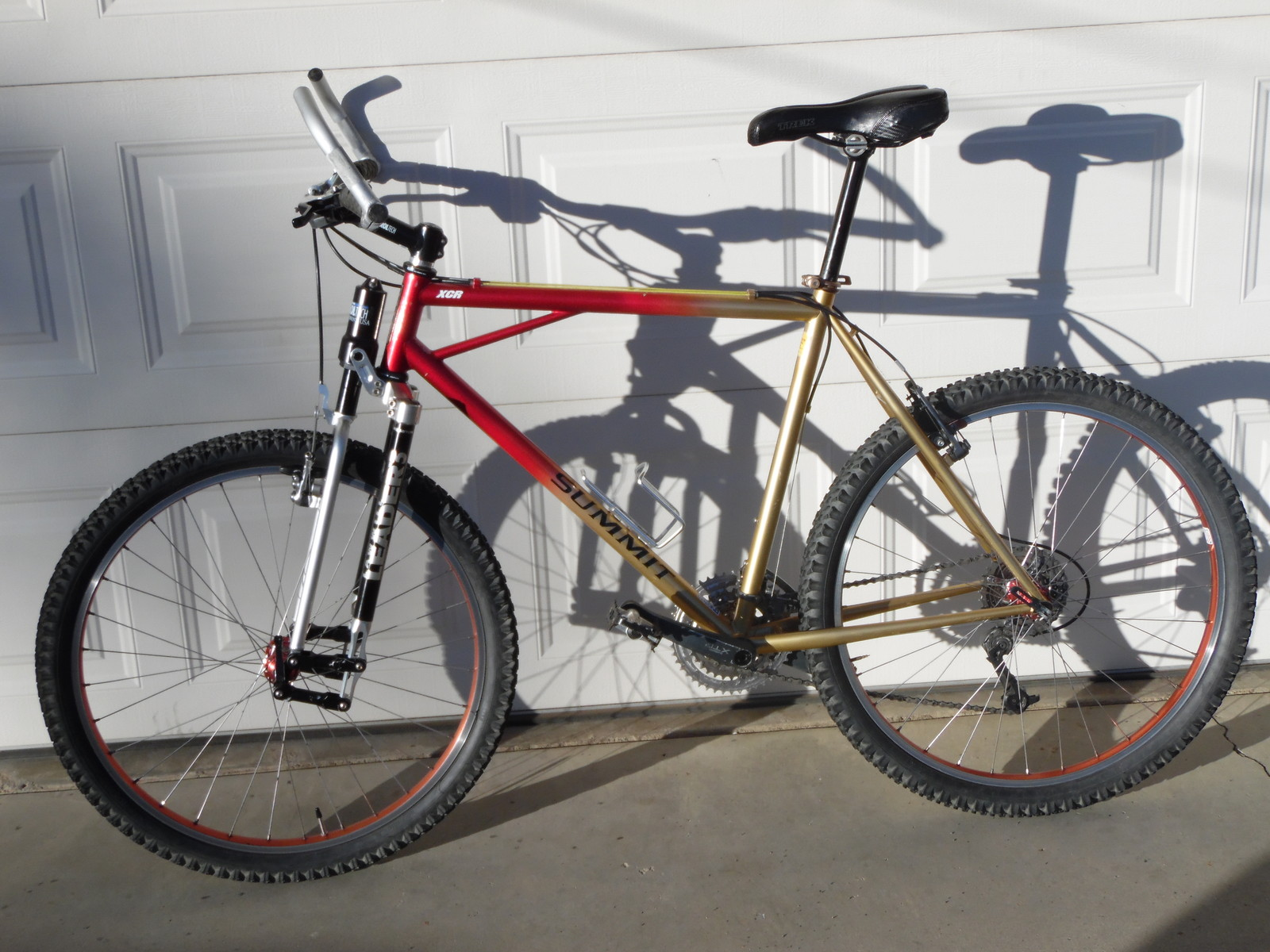 Tange Prestige double butted Cro-moly frames Durable yet plush ride.