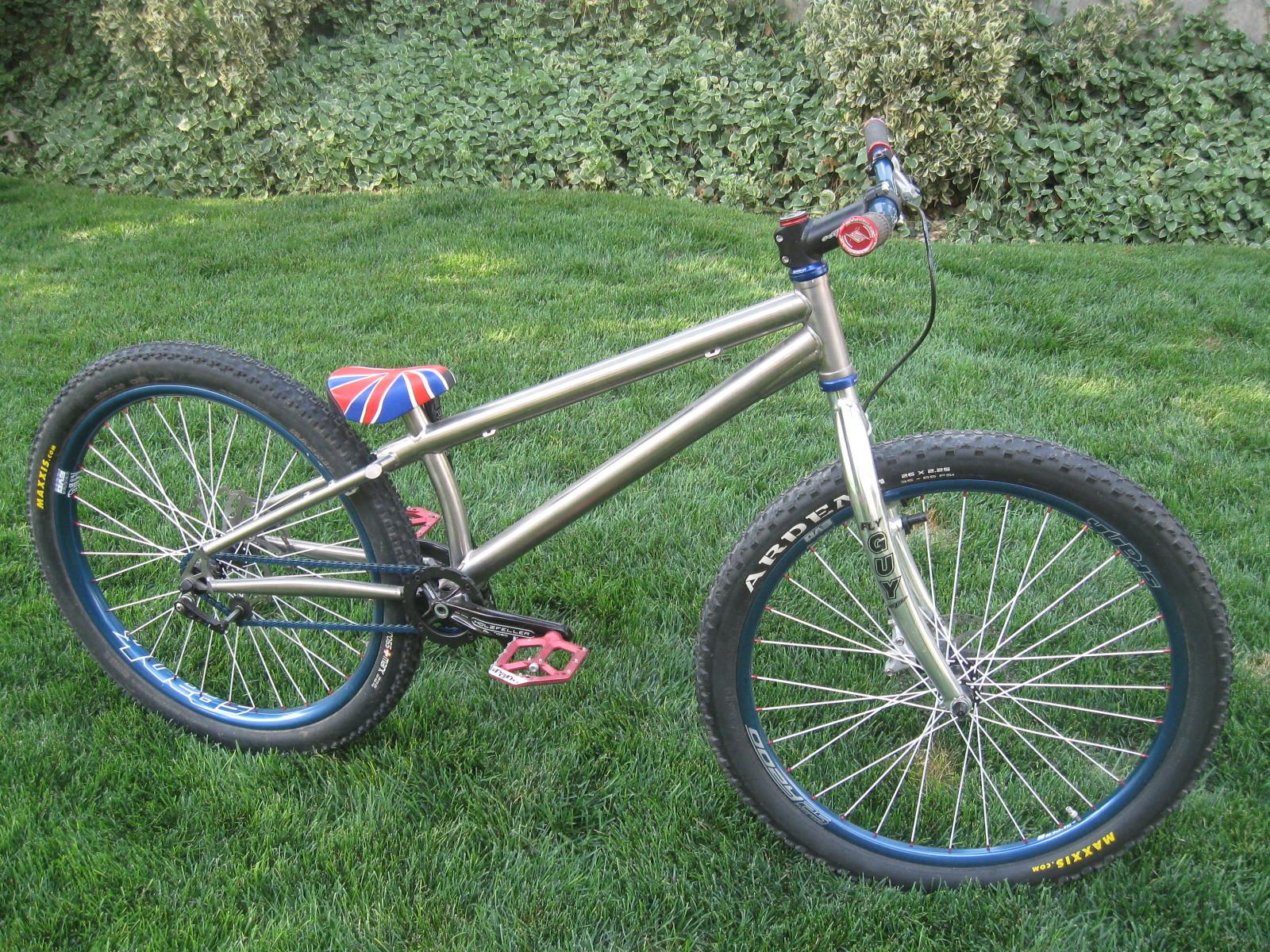 Custom Titanium Trials Bike