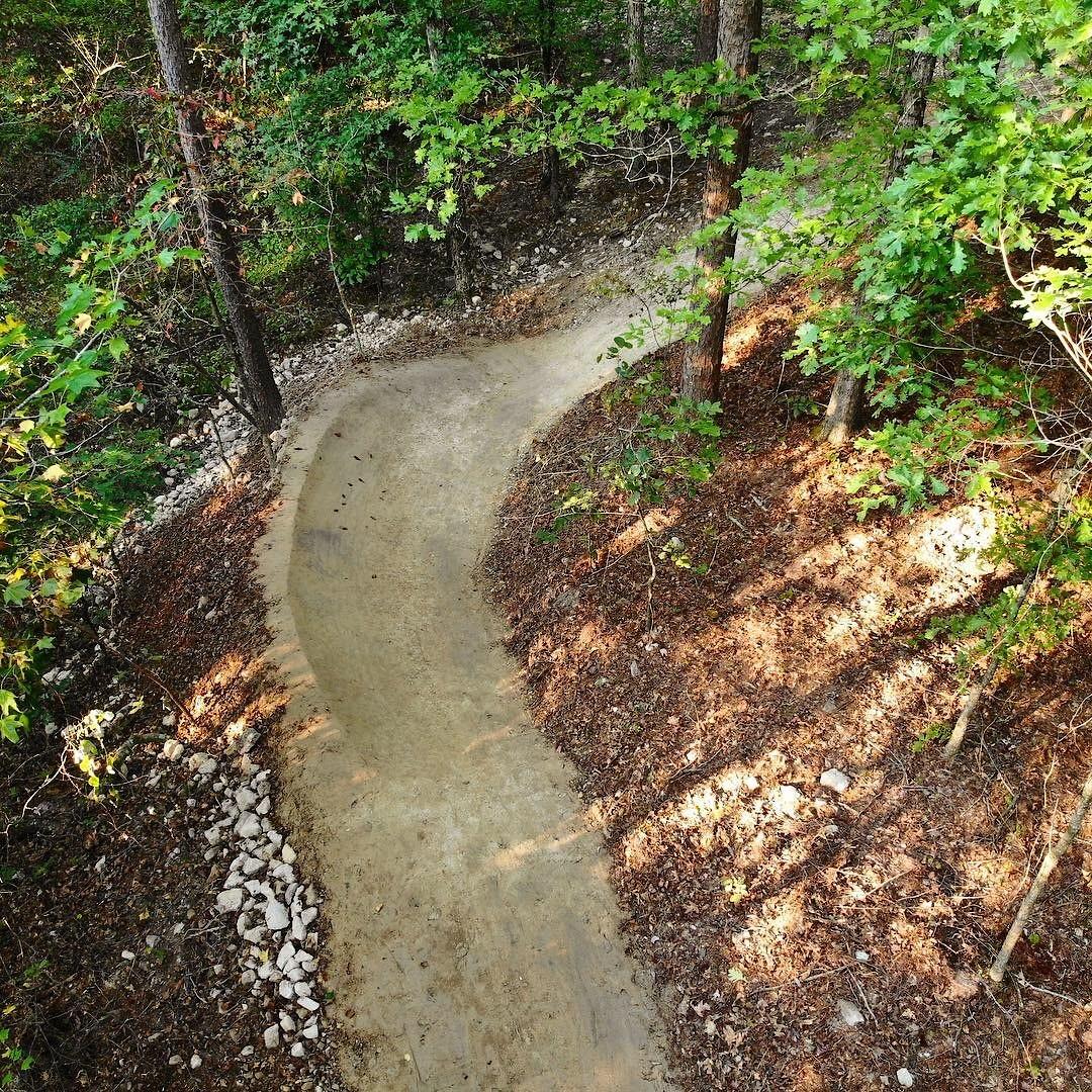 Lucky 13 finish berm - McGill Trail Fabrication - Mountain Biking Pictures - Vital MTB
