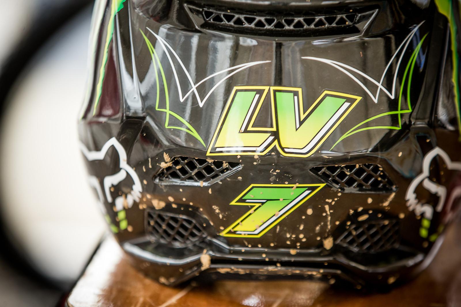 Loris' New Fox Helmet - JackRice - Mountain Biking Pictures - Vital MTB