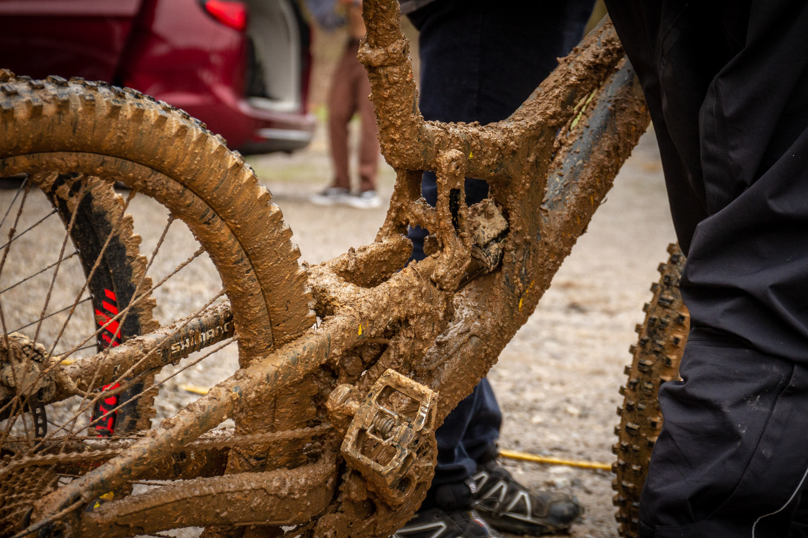 A Common Sight  - PIT BITS - 2019 Windrock Tennessee National Pro GRT  - Mountain Biking Pictures - Vital MTB