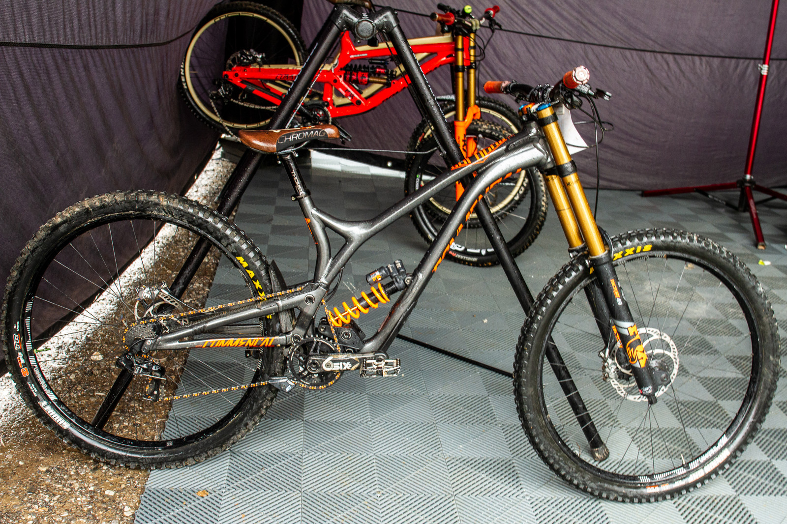 Dillon Flinders' Commencal Supreme DH 29er - PIT BITS - 2019 Windrock Tennessee National Pro GRT  - Mountain Biking Pictures - Vital MTB