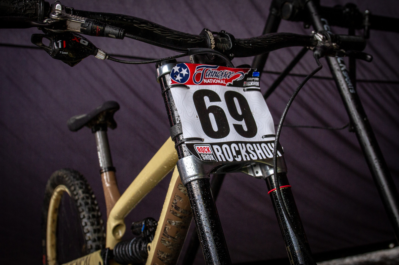 Kyle Strait's Commencal Furious with Insider Plate Number Choice - PIT BITS - 2019 Windrock Tennessee National Pro GRT  - Mountain Biking Pictures - Vital MTB