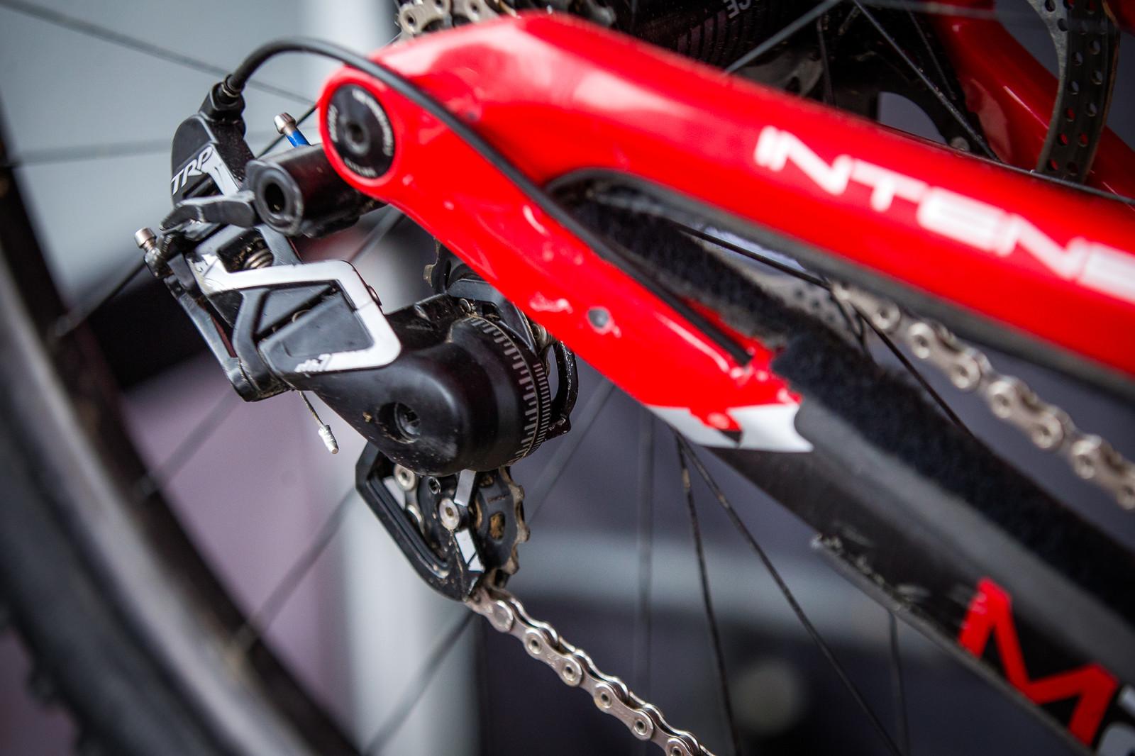 7-Speed TRP Rear Derailleur on Neko's Bike - PIT BITS - 2019 Windrock Tennessee National Pro GRT  - Mountain Biking Pictures - Vital MTB