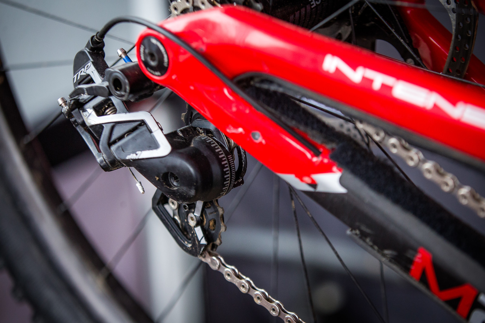 7-Speed TRP Rear Derailleur on Neko's Bike - PIT BITS - 2019 Windrock Tennessee National Pro GRT  - Mountain Biking Pictures - Vital MTB
