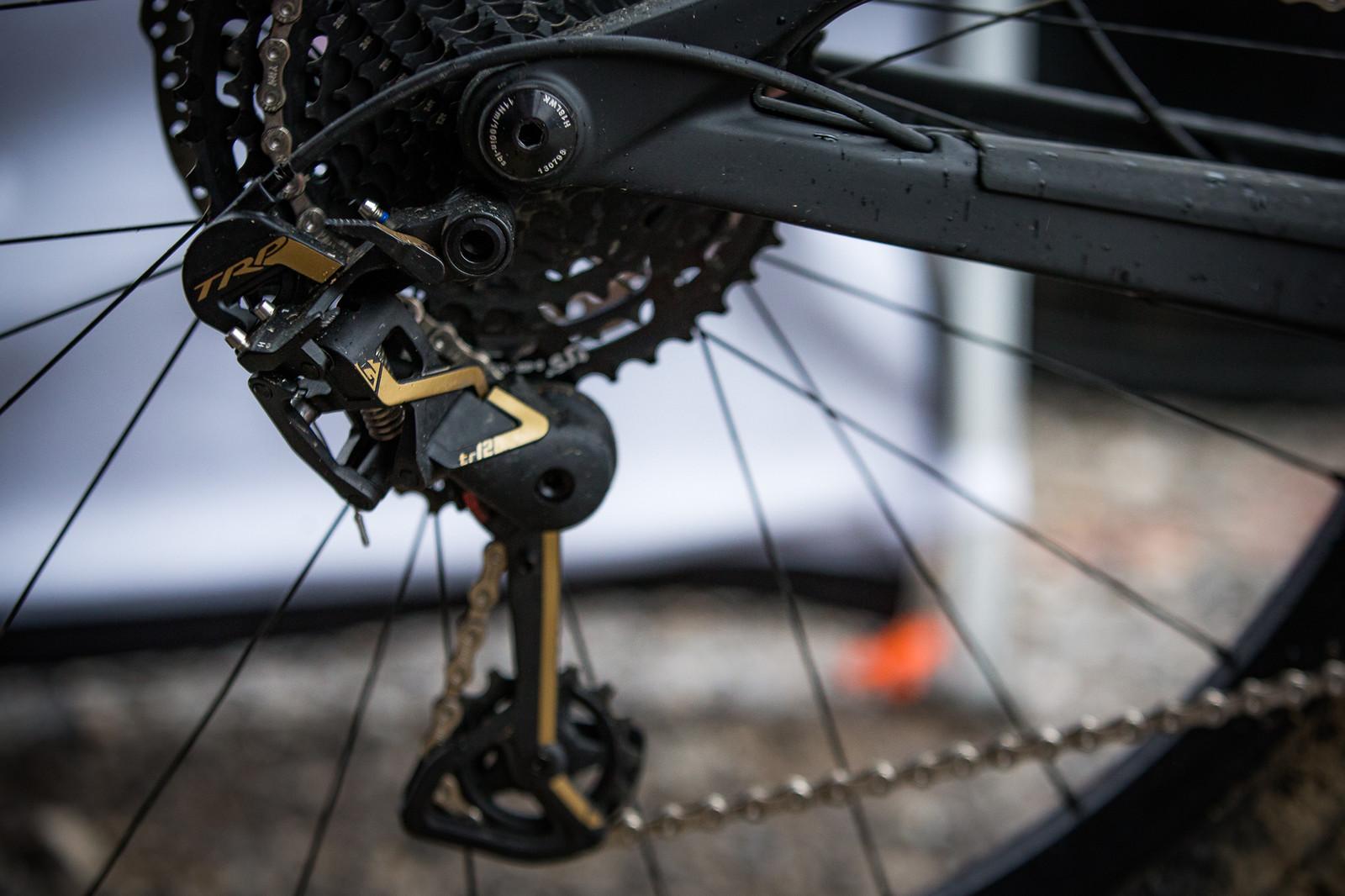 PIT BITS - Windrock Pro GRT - TRP 12-Speed Derailleur - PIT BITS - 2019 Windrock Tennessee National Pro GRT  - Mountain Biking Pictures - Vital MTB