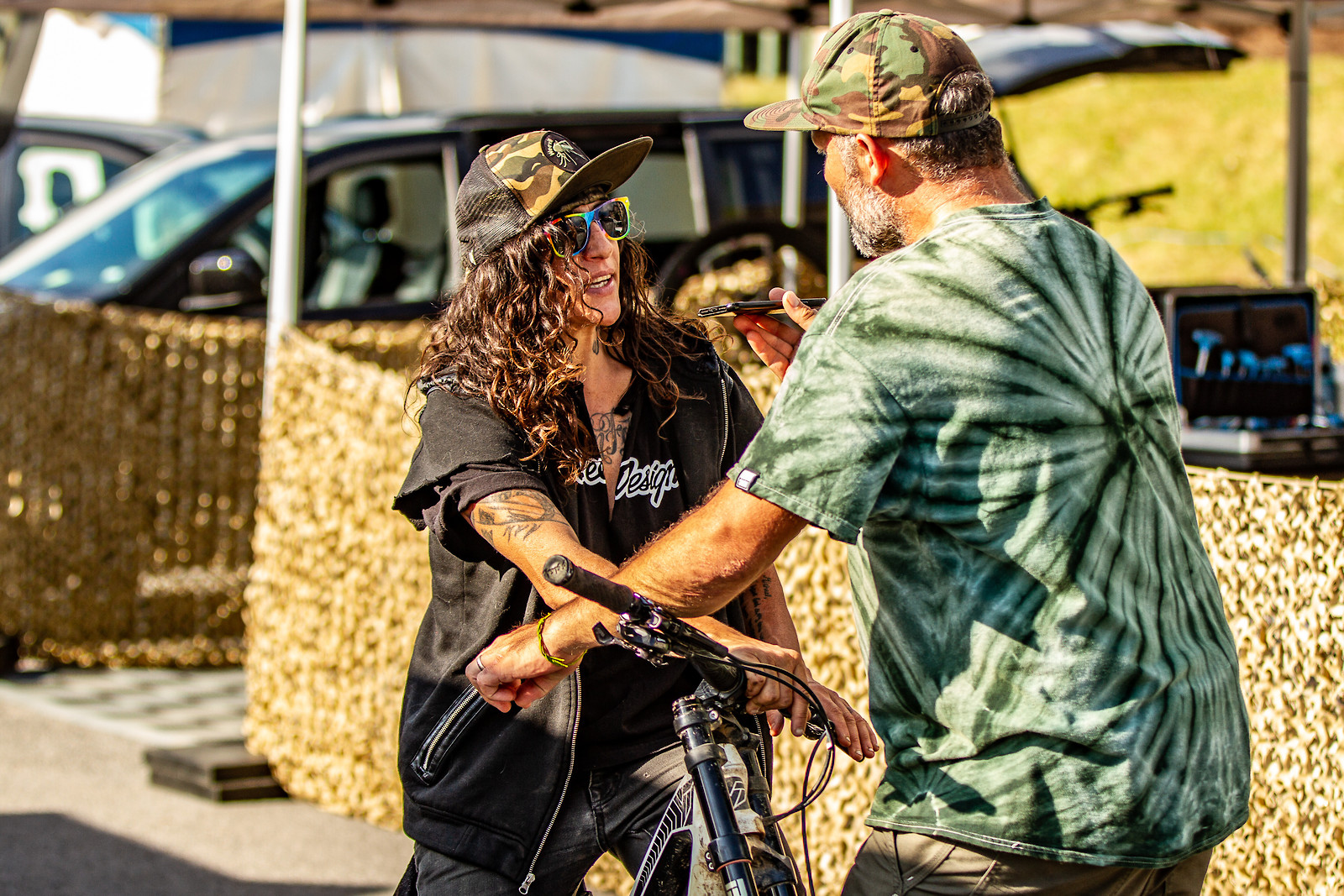 Sven Martin interviewing 'The Missile,' Missy Giove - JackRice - Mountain Biking Pictures - Vital MTB