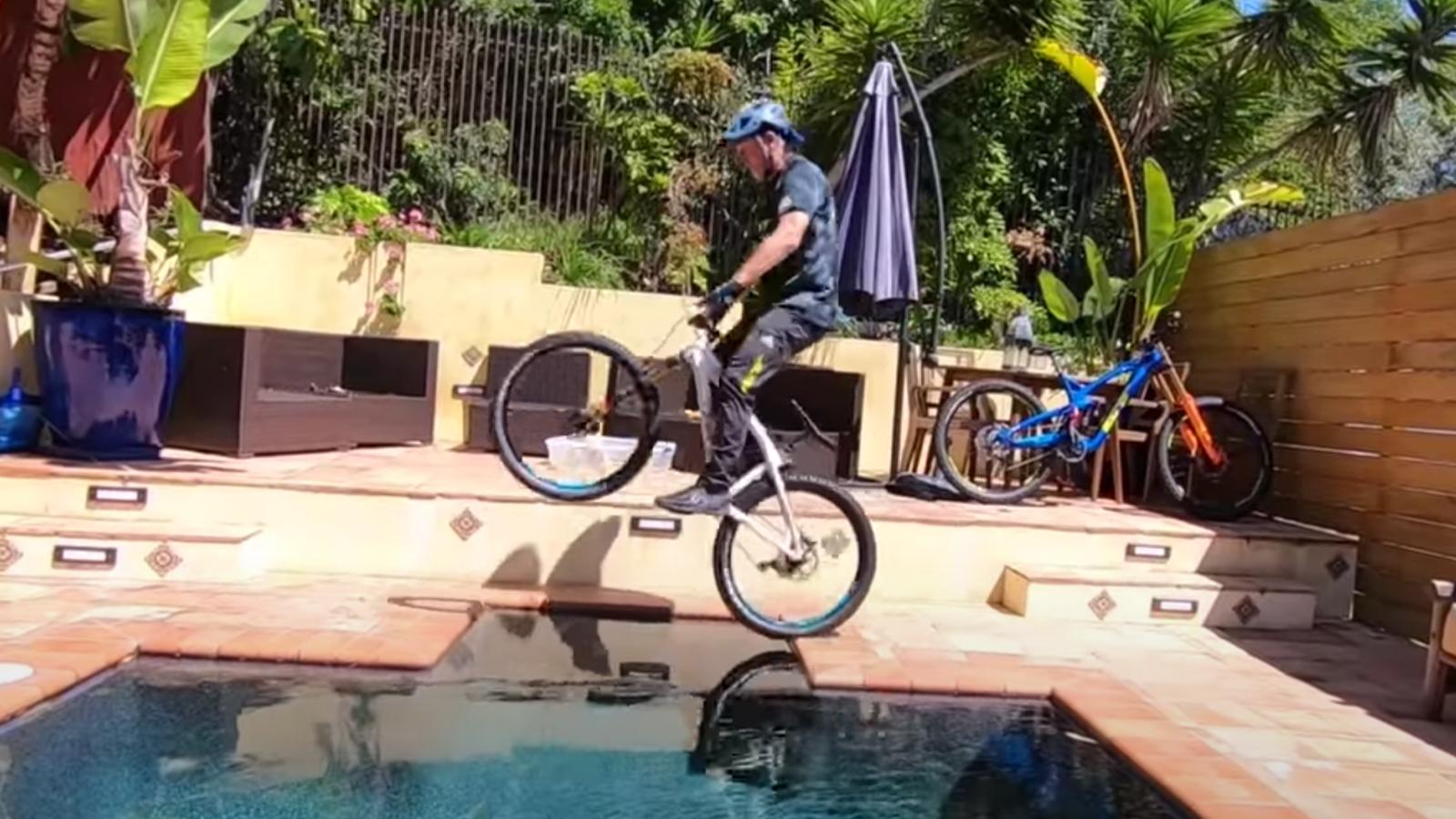 Hans Rey Rides Nine Bikes in His Home Trials Challenge