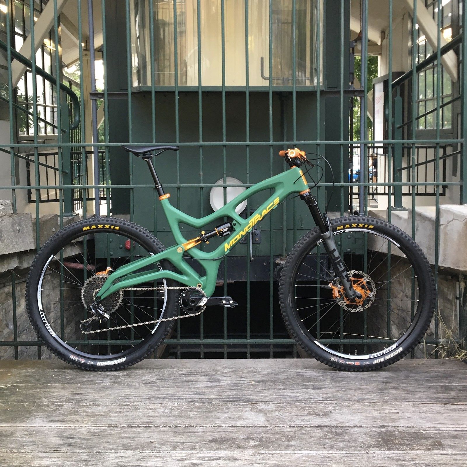 MONOTRACE - First prototype - XXL Trail bike - homemade