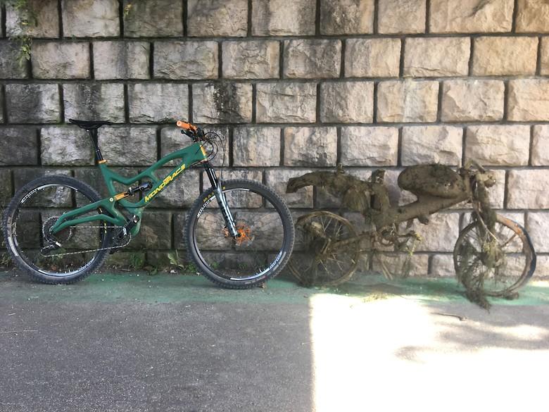 MONOTRACE - First prototype - XXL Trail bike - homemade