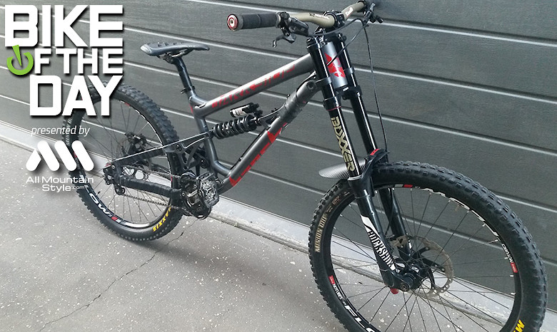 banshee darkside single speed DH Park bike