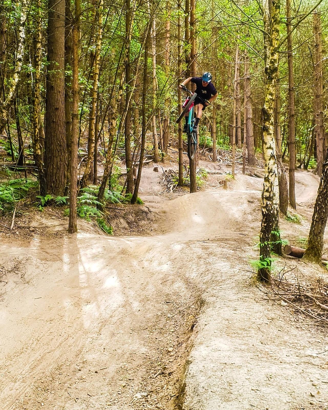 Ambroise Hébert send the wilkins leap at swinley forest - Ambroise_Hebert-Racing - Mountain Biking Pictures - Vital MTB