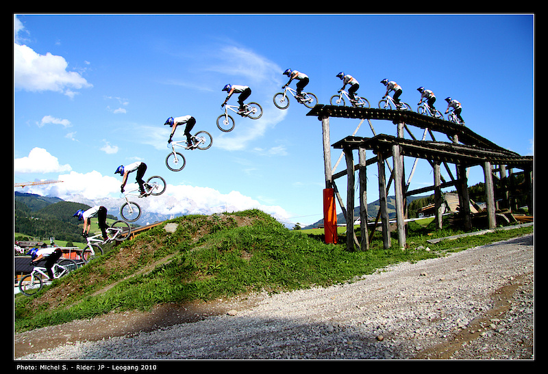 Sequence Drop In Leogang Austria Jean Dirt Mountain