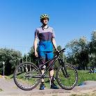 Homemade carbon bike for pumptrack
