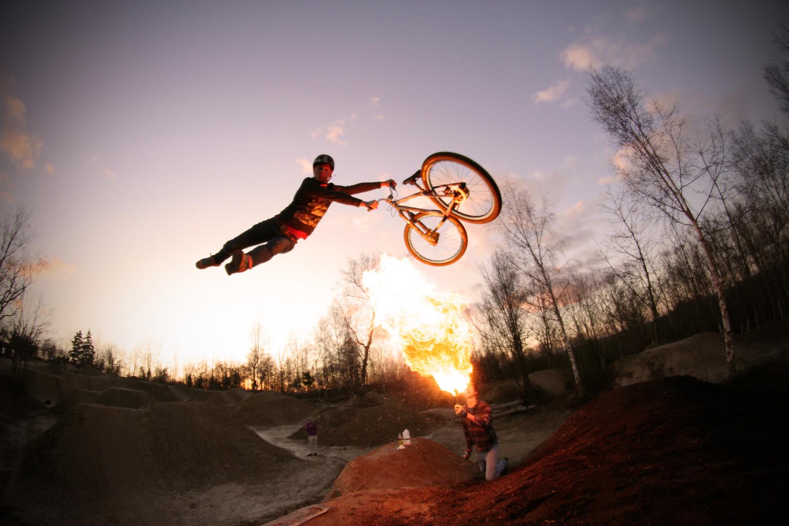 Fire and superish whip! - jamieledson - Mountain Biking Pictures - Vital MTB