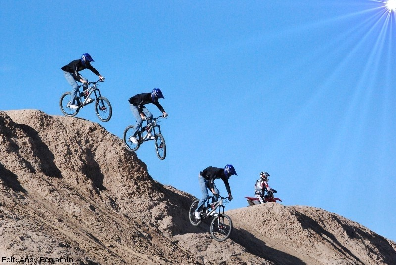 Big Drop at Ocotillo Wells - adamdigby - Mountain Biking Pictures - Vital MTB