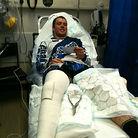 Matt Simmonds in hospital