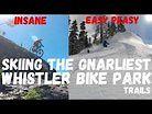 Skiing the Gnarliest @whistlerbikepark trails