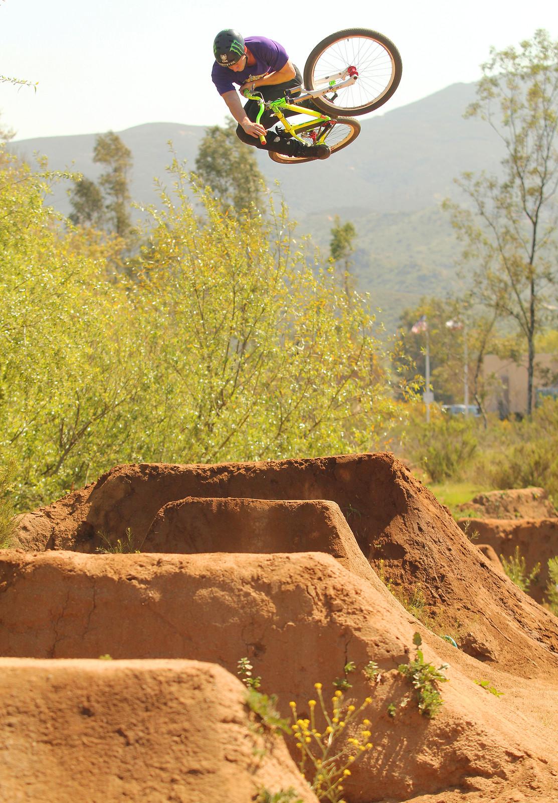 Sam Pilgrim - 3 Table  - SamDavies - Mountain Biking Pictures - Vital MTB