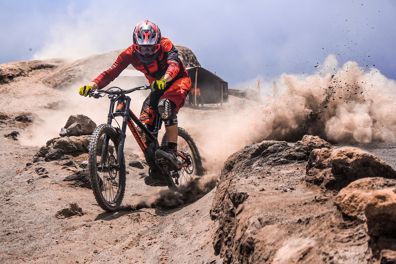 Riding down an active volcano. - matej.charvat - Mountain Biking Pictures - Vital MTB