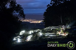 Electric Night Riding in the Foothills of Kunanyi