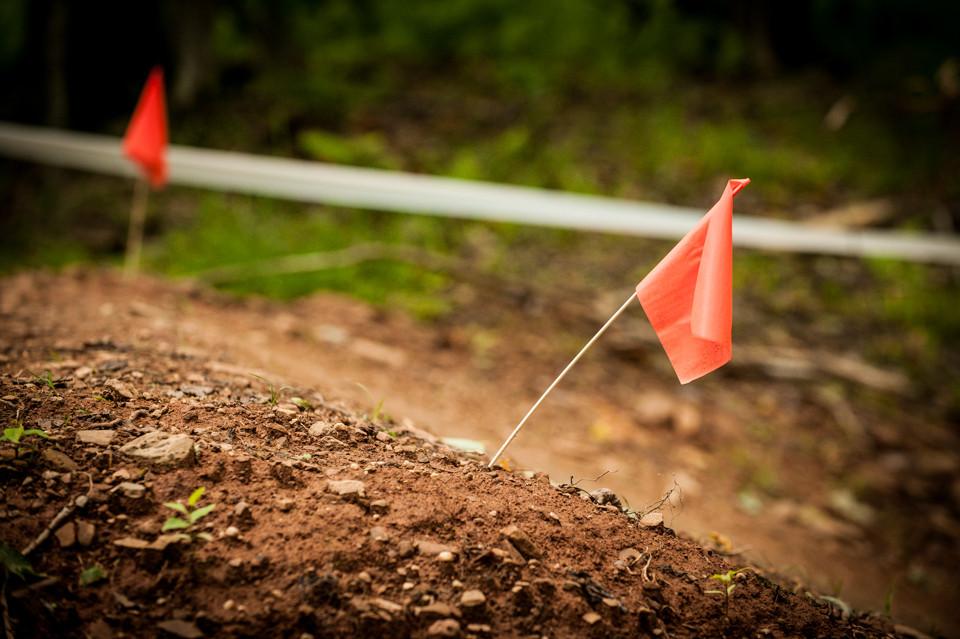 Caution! Large pile of dirt. - Snowshoe Pro GRT - Mountain Biking Pictures - Vital MTB