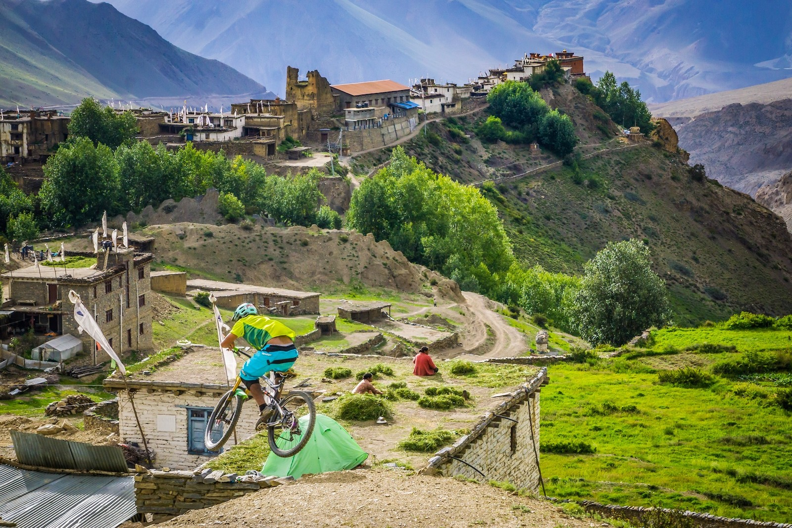 Riding in Jharkot Nepal - Malcolm Mclaws - Mountain Biking Pictures - Vital MTB
