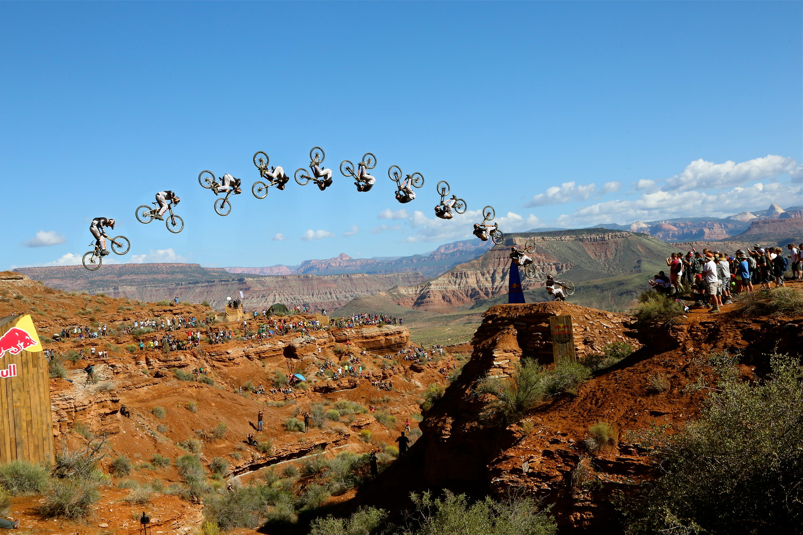 Tom van Steenbergen Rampage canyon gap front flip  - Malcolm Mclaws - Mountain Biking Pictures - Vital MTB