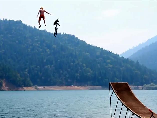 Biggest Lake Bike Jump Ever