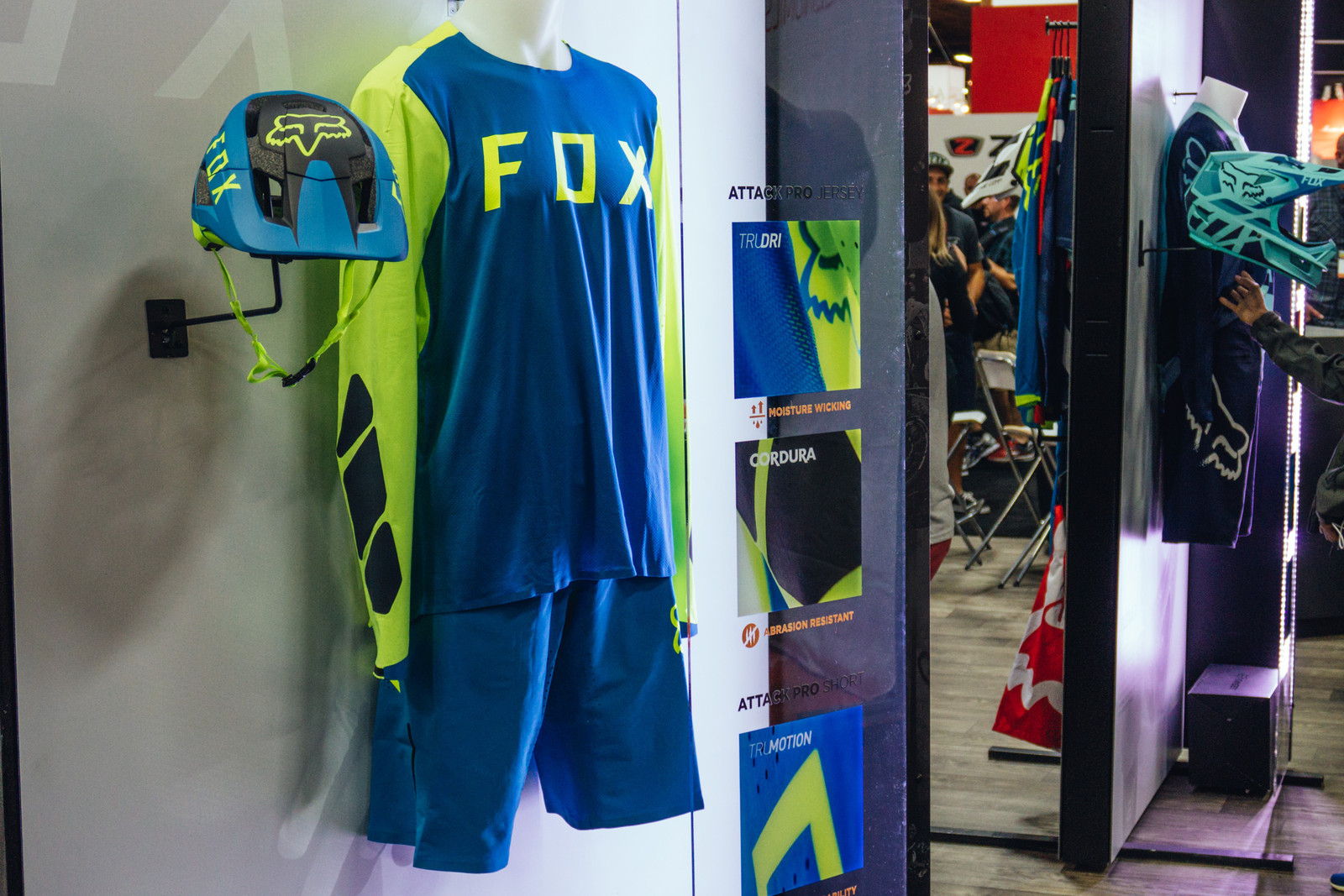 Fox Racing Attack Pro Jersey and FlexAir DH Pant - INTERBIKE - 2017 Mountain Bike Apparel and Protective Gear - Mountain Biking Pictures - Vital MTB