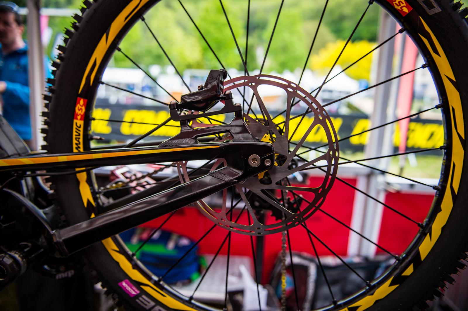 220mm SRAM Rotors - 2017 Lourdes World Cup Pit Bits - Mountain Biking Pictures - Vital MTB