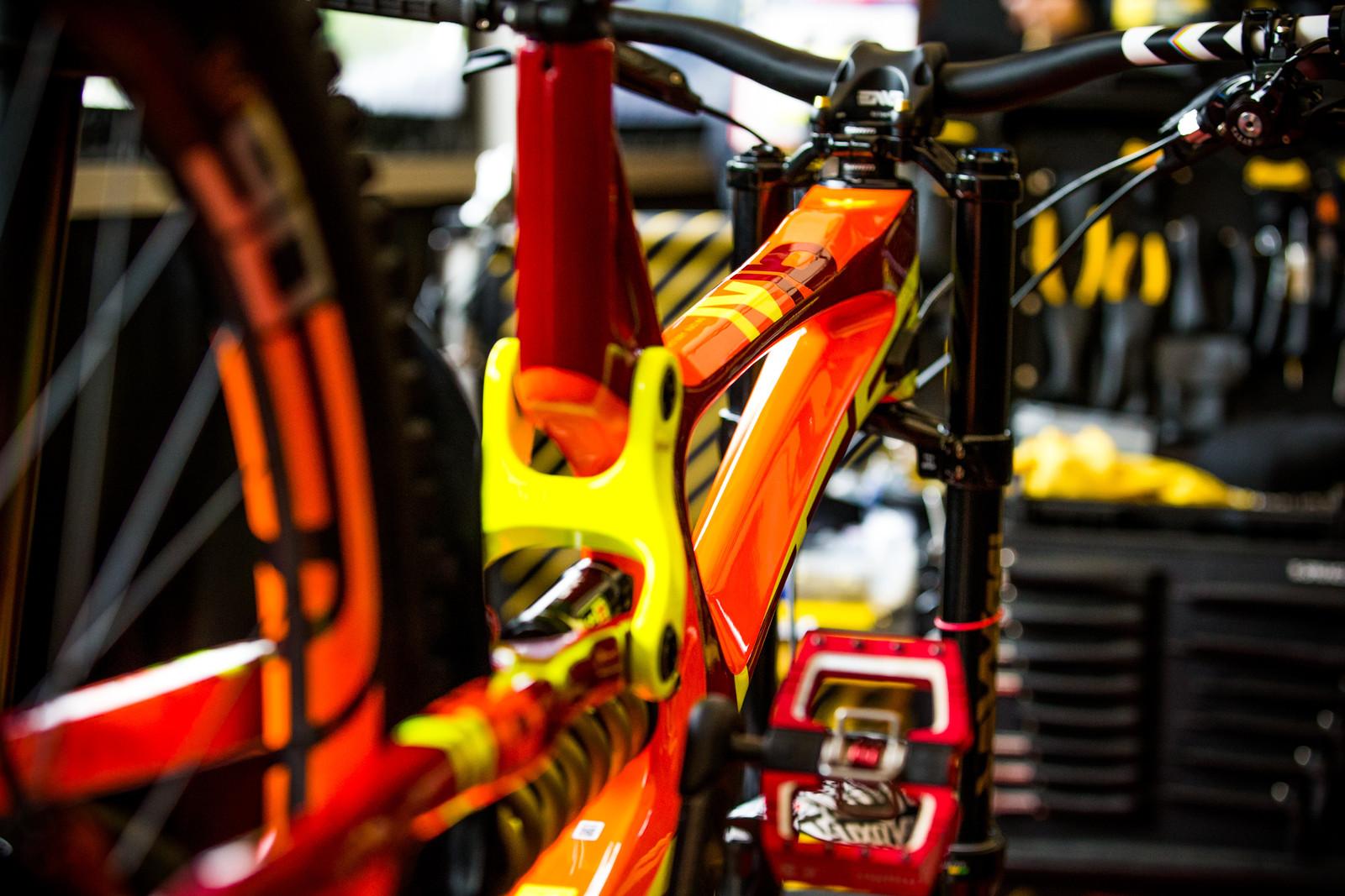 Intense Factory Racing - 2017 Lourdes World Cup Pit Bits - Mountain Biking Pictures - Vital MTB