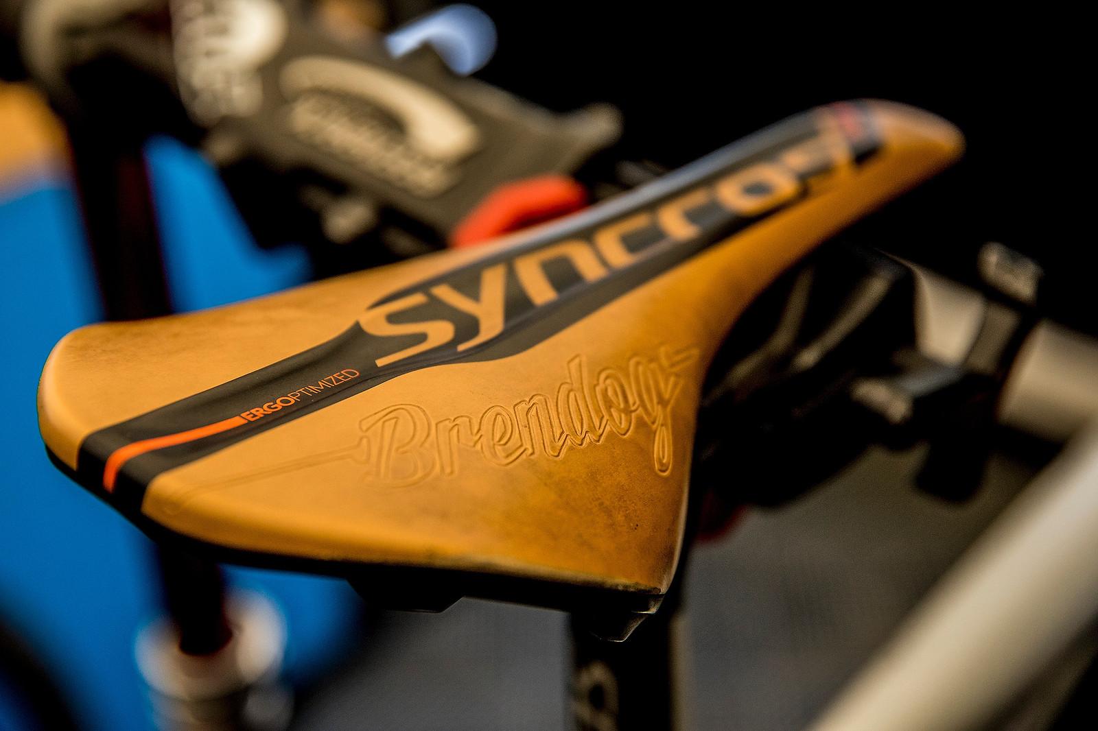 Vintage Pre-worn Leather for Brendog - 2017 Lourdes World Cup Pit Bits - Mountain Biking Pictures - Vital MTB