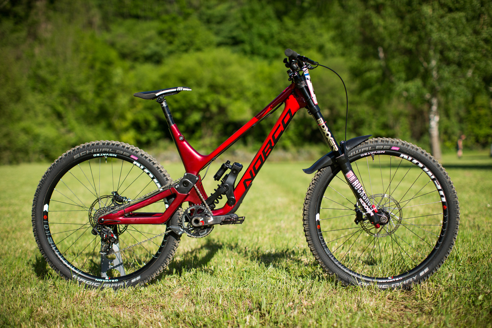 Joe Smith's Norco Race Development DH Prototype Bike - 2017 Lourdes World Cup Pit Bits - Mountain Biking Pictures - Vital MTB