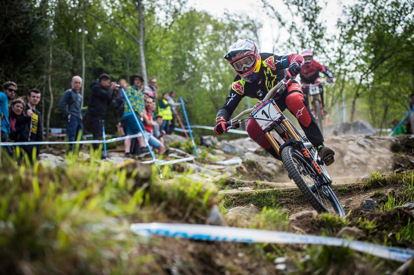 Aaron Gwin, Lourdes Race Morning Practice - iceman2058 - Mountain Biking Pictures - Vital MTB