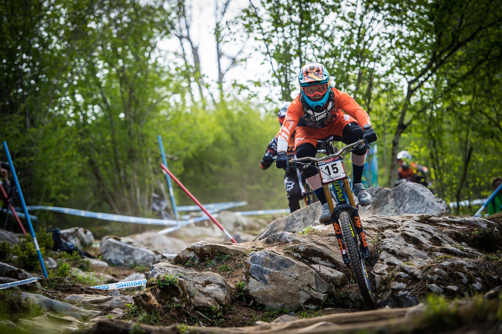 Bernard Kerr, Lourdes Race Morning Practice - iceman2058 - Mountain Biking Pictures - Vital MTB