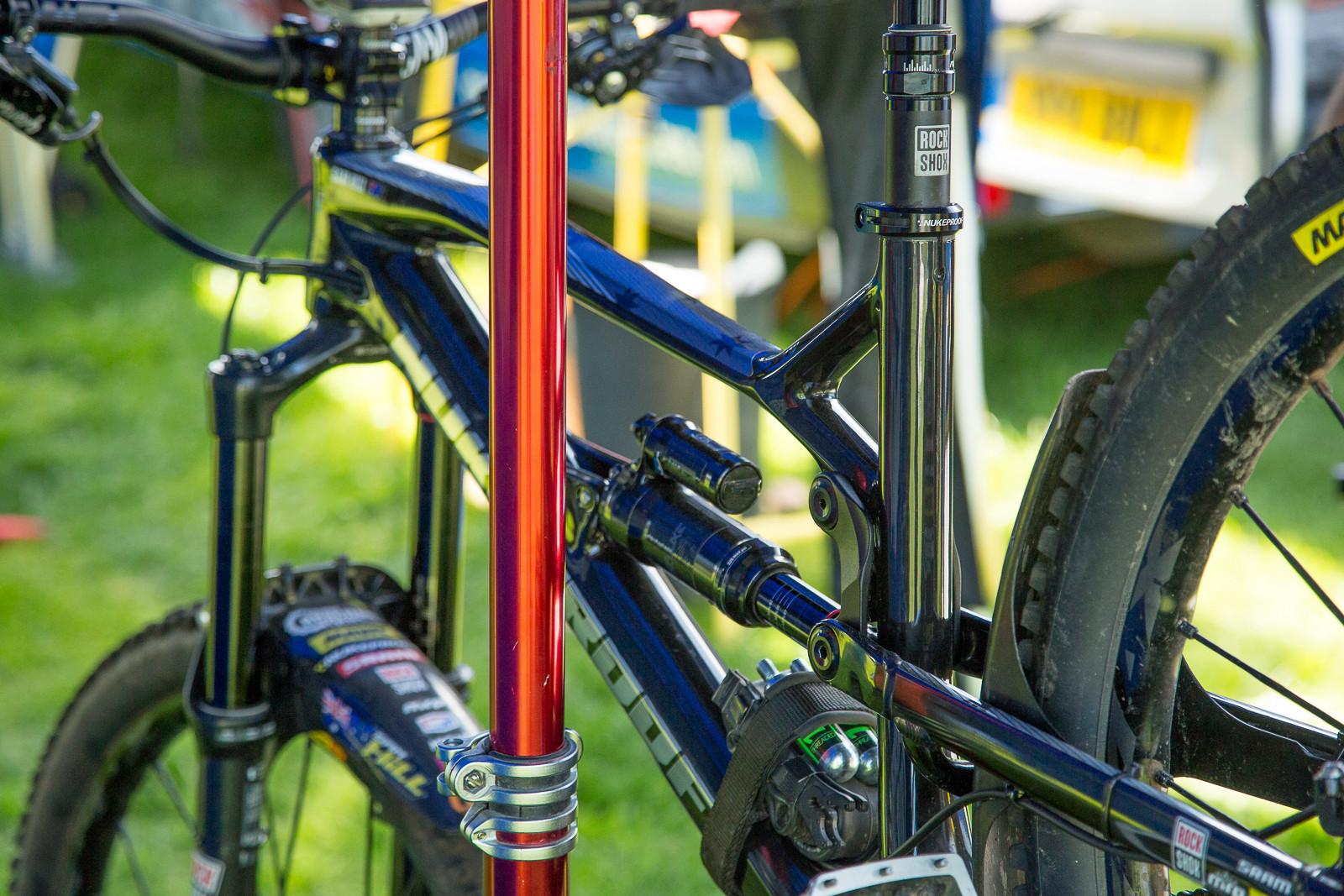 Sam Hill's Prototype Carbon Nukeproof Mega Bike - 2017 Emerald Enduro EWS Pit Bits - Mountain Biking Pictures - Vital MTB