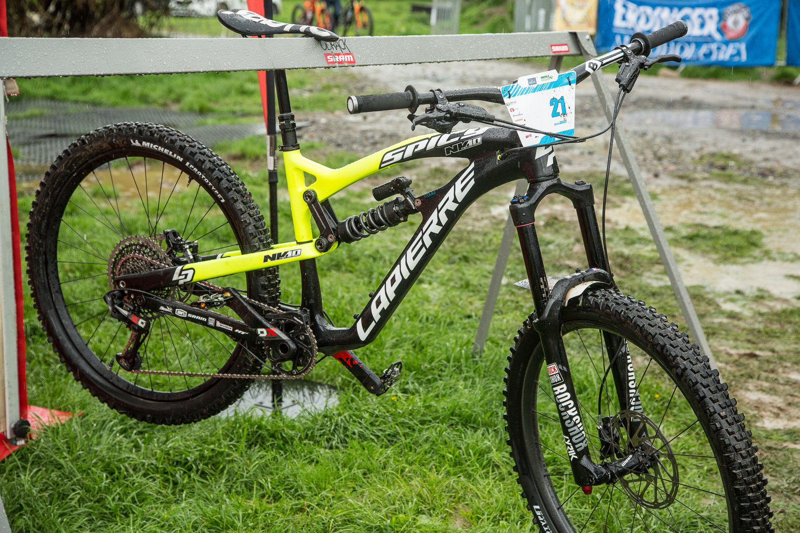 Adrien Dailly's Lapierre Spicy - 2017 Emerald Enduro EWS Pit Bits - Mountain Biking Pictures - Vital MTB