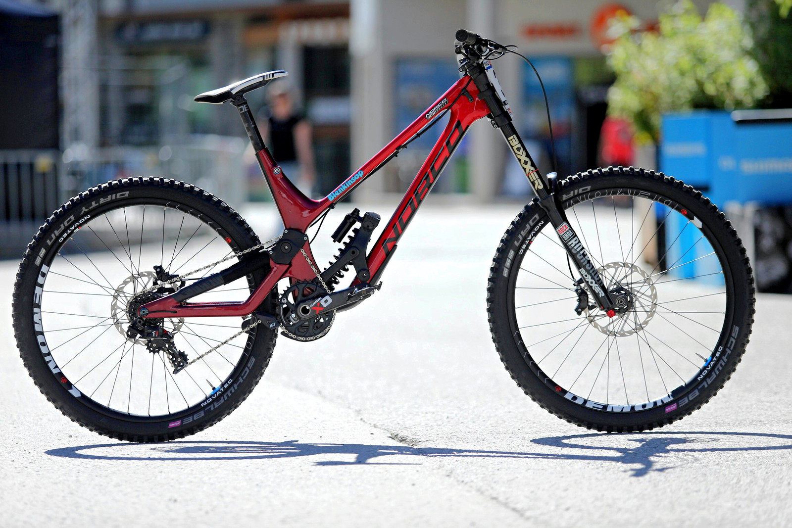 Sam Blenkinsop's Prototype Norco DH Bike - 2017 Leogang World Cup Pit Bits - Mountain Biking Pictures - Vital MTB