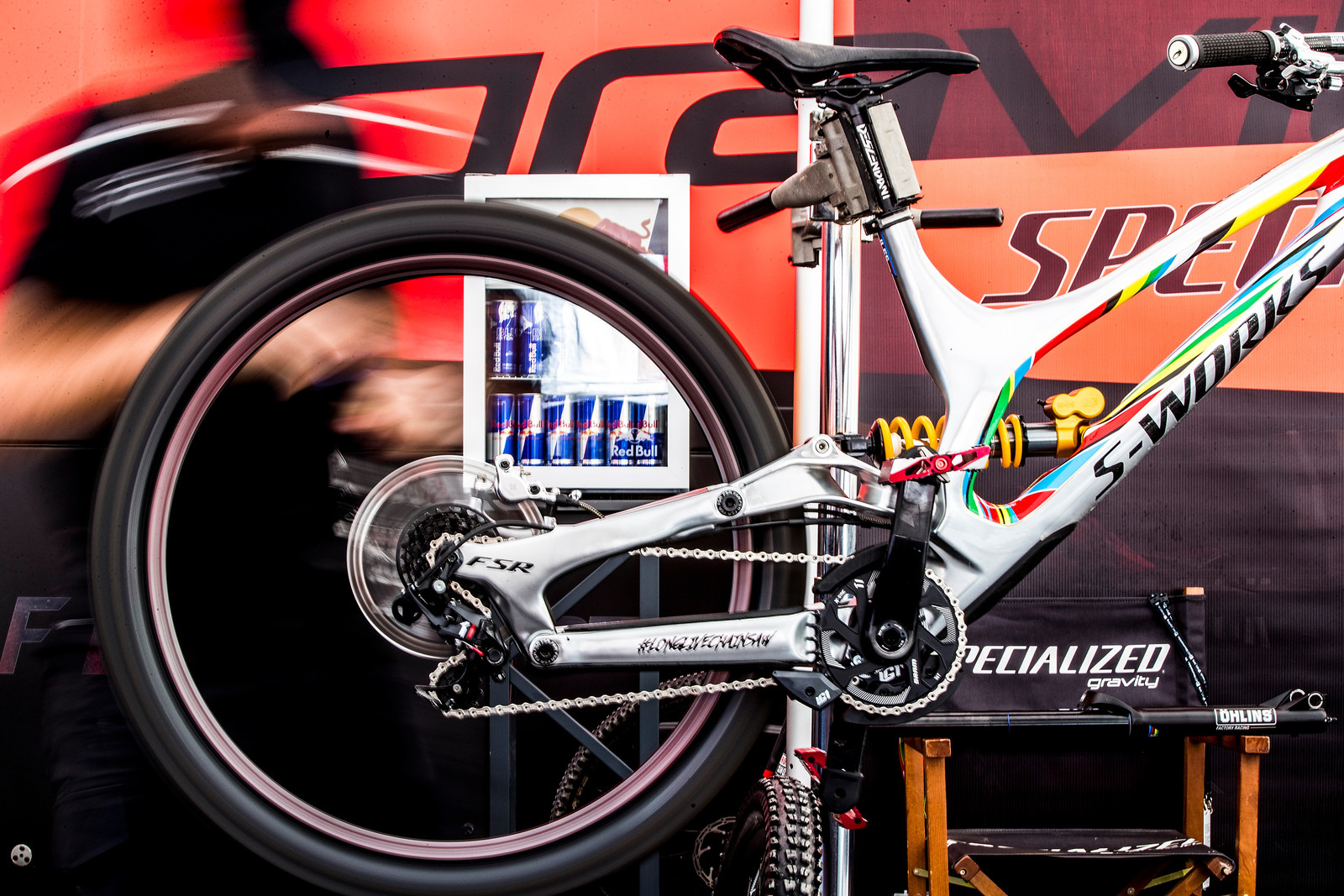 Finn's Demo Will Fly - 2017 Leogang World Cup Pit Bits - Mountain Biking Pictures - Vital MTB
