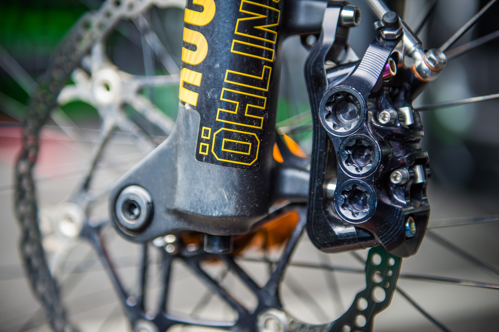 Hope 6-pot Calipers - 2017 Andorra World Cup Pit Bits - Mountain Biking Pictures - Vital MTB