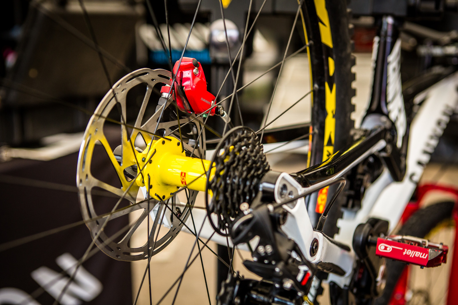 Red CODE Calipers at Canyon - 2018 Losinj World Cup Pit Bits - Mountain Biking Pictures - Vital MTB