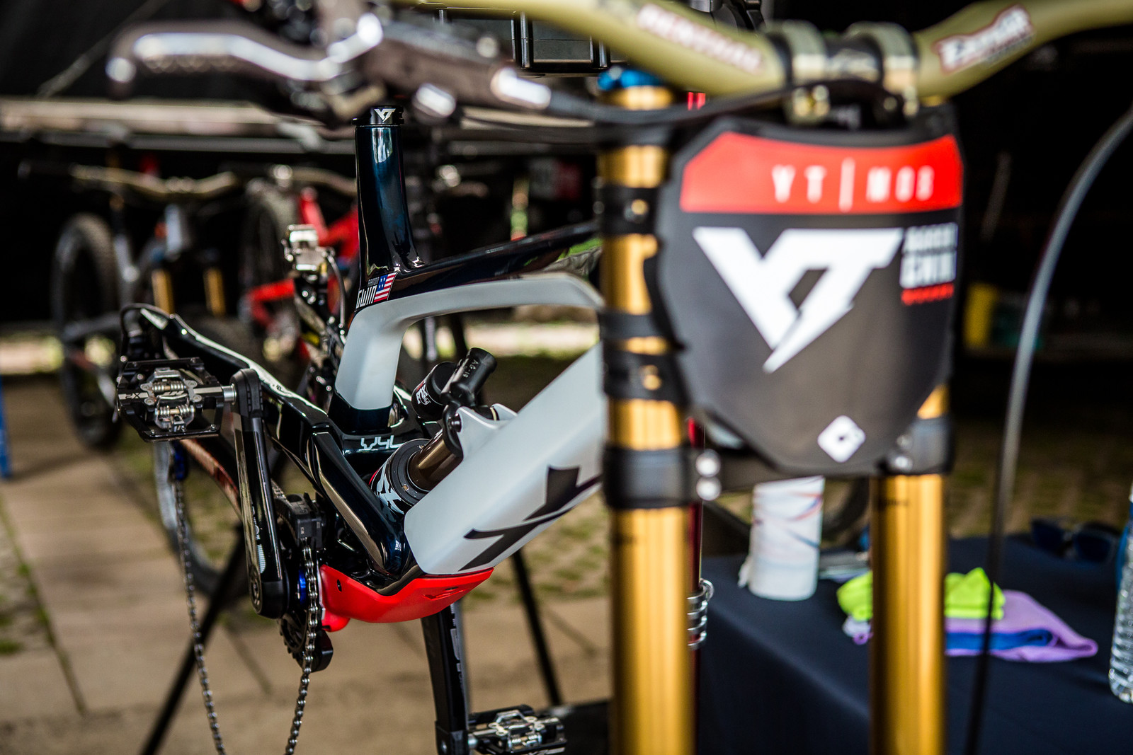 Aaron Gwin's New YT TUES - 2018 Losinj World Cup Pit Bits - Mountain Biking Pictures - Vital MTB