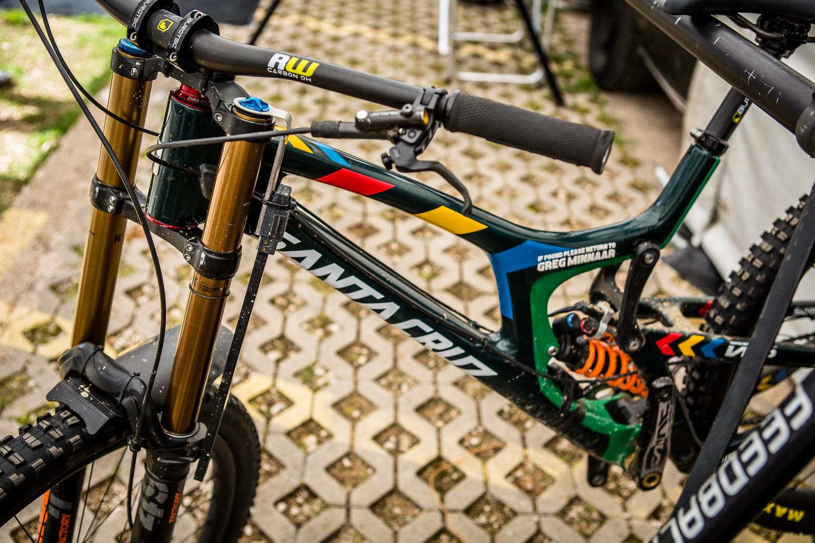 Greg Minnaar's Data Acquisition Gear - 2018 Losinj World Cup Pit Bits - Mountain Biking Pictures - Vital MTB