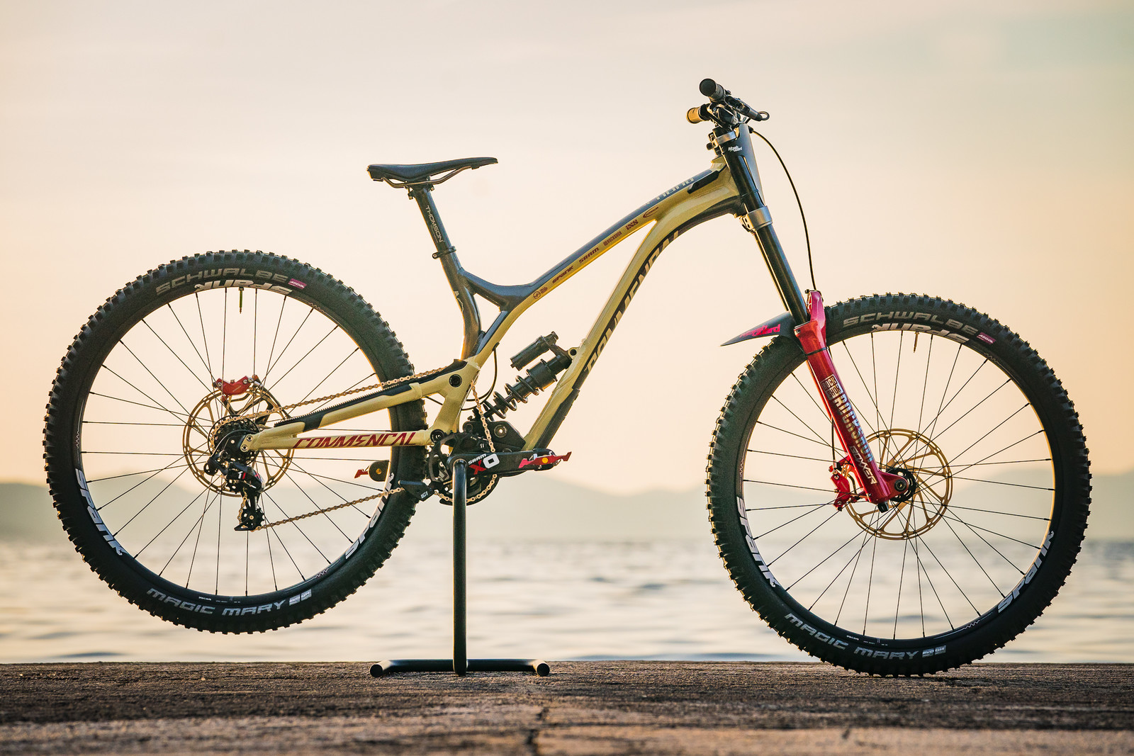 Amaury Pierron's Commencal Supreme DH 29 - 2018 Losinj World Cup Pit Bits - Mountain Biking Pictures - Vital MTB