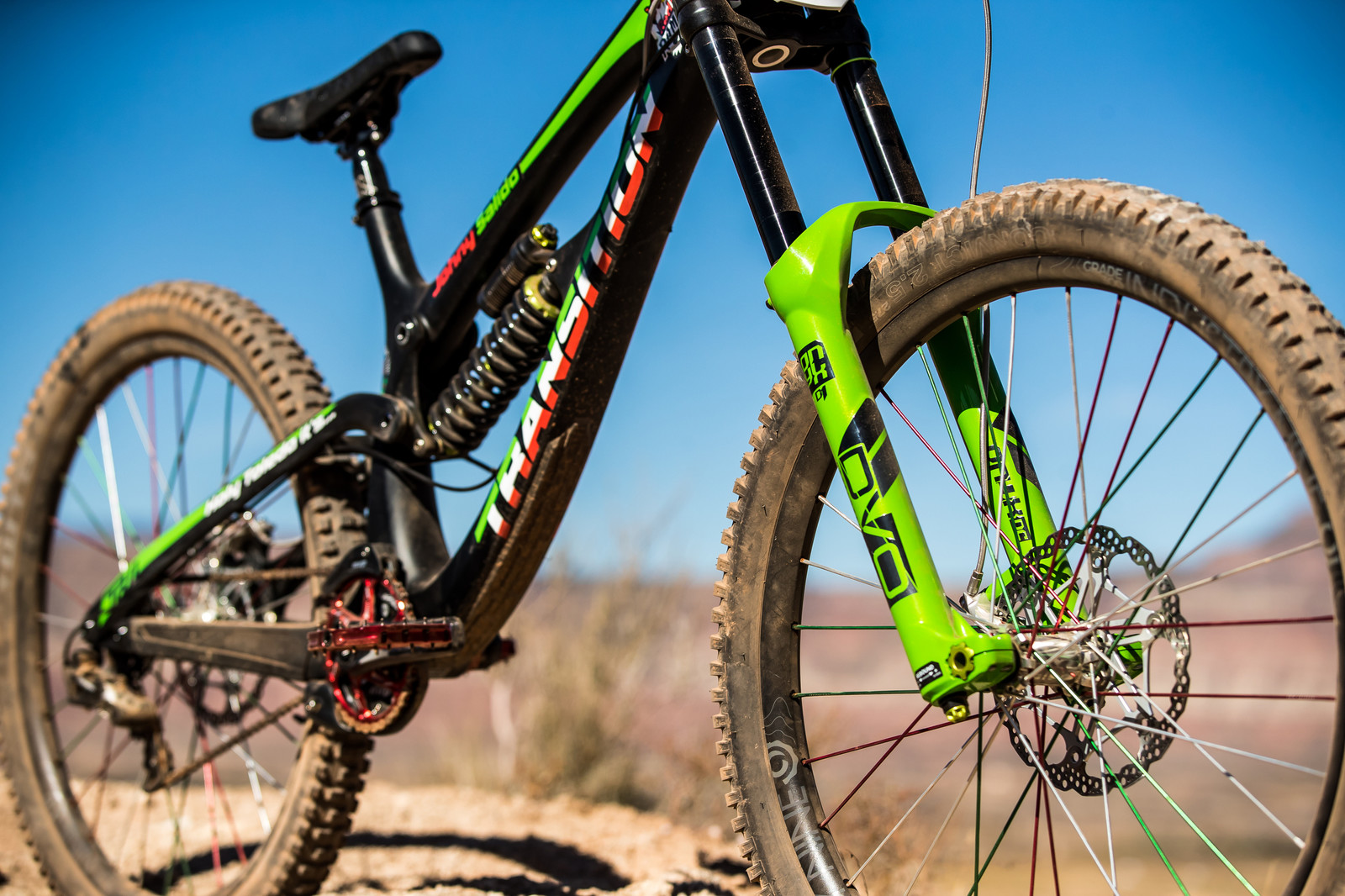 DVO Suspension on Juan Diego Salido's Transition TR11 at Rampage 2019 - RAMPAGE BIKE - Juan Diego Salido's Transition TR11 - Mountain Biking Pictures - Vital MTB
