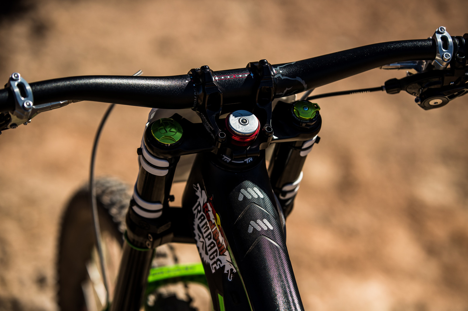 Cockpit on Juan Diego Salido's Transition TR11 at Rampage 2019 - RAMPAGE BIKE - Juan Diego Salido's Transition TR11 - Mountain Biking Pictures - Vital MTB