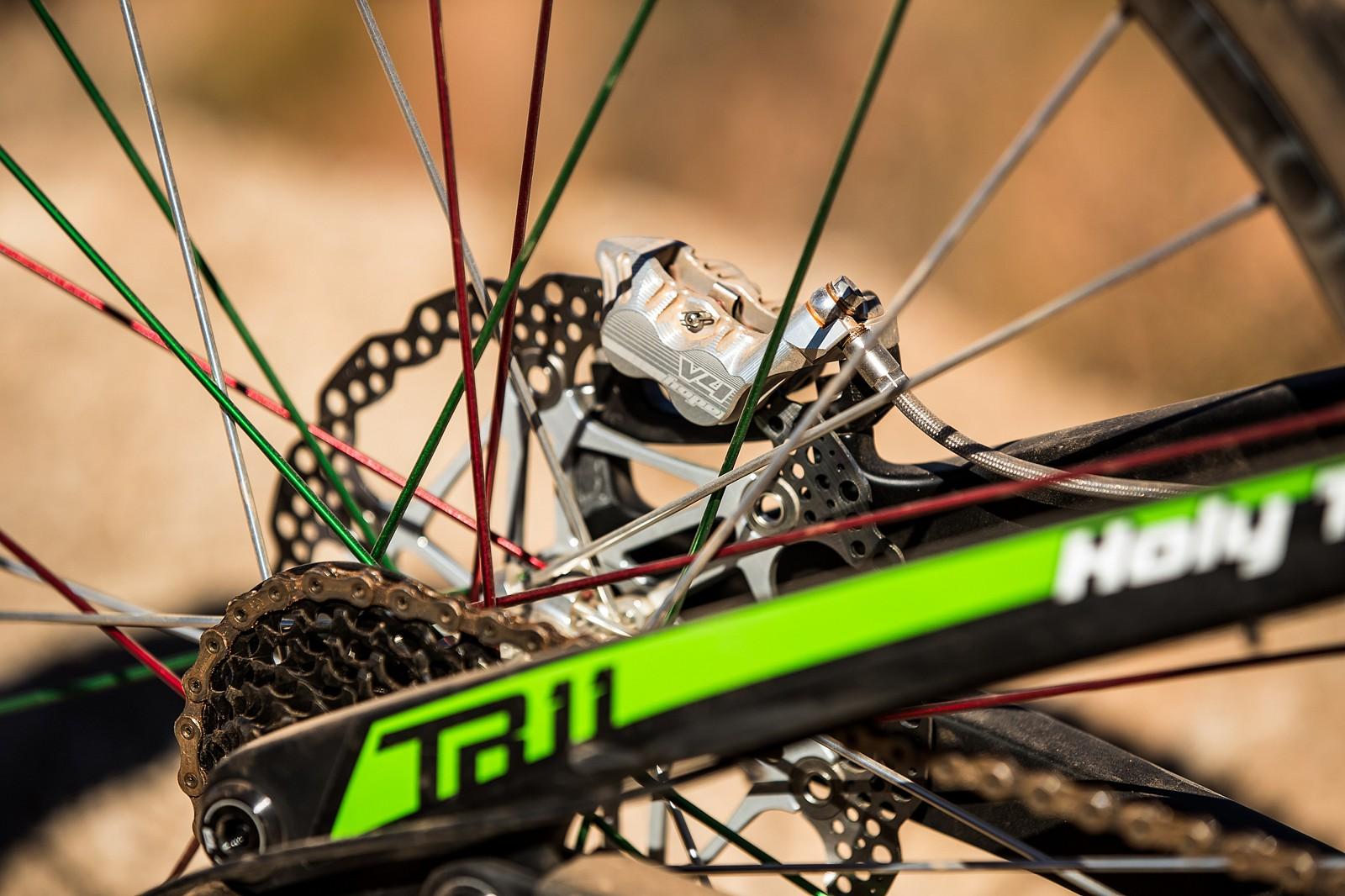 Hope Brakes on Juan Diego Salido's Transition TR11 at Rampage 2019 - RAMPAGE BIKE - Juan Diego Salido's Transition TR11 - Mountain Biking Pictures - Vital MTB