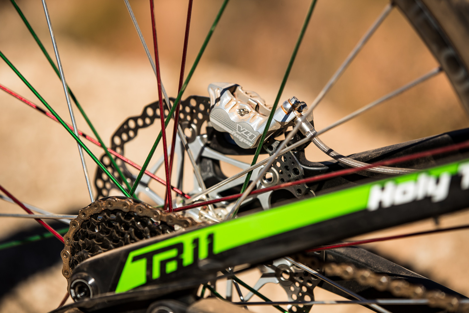 Hope Brakes on Juan Diego Salido's Transition TR11 at Rampage 2019 - RAMPAGE BIKE - Juan Diego Salido's Transition TR11 - Mountain Biking Pictures - Vital MTB