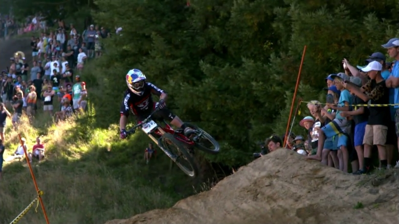 Dodging Trees and Casing Jumps at the NZ DH Championships